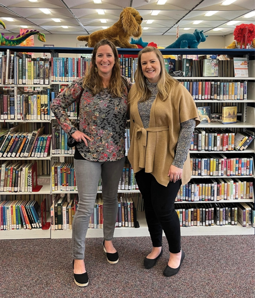 Moriah Brown, left, stands with Jennifer Nassar, director of Chapin Memorial Library in Myrtle Beach, where Brown volunteers and serves as president of the Friends of the Library.