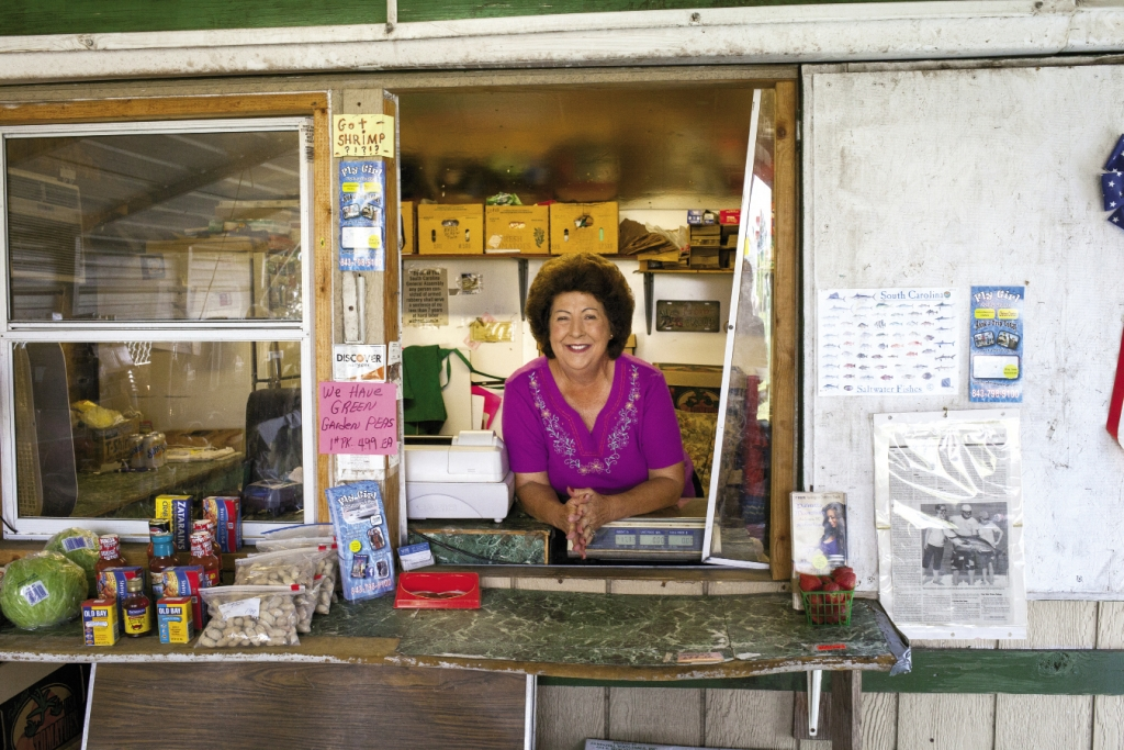 Barbara's Produce: A smiling Barbara Burton waits to greet her browsing customers at her south Myrtle Beach stand on U.S. 17 Business.