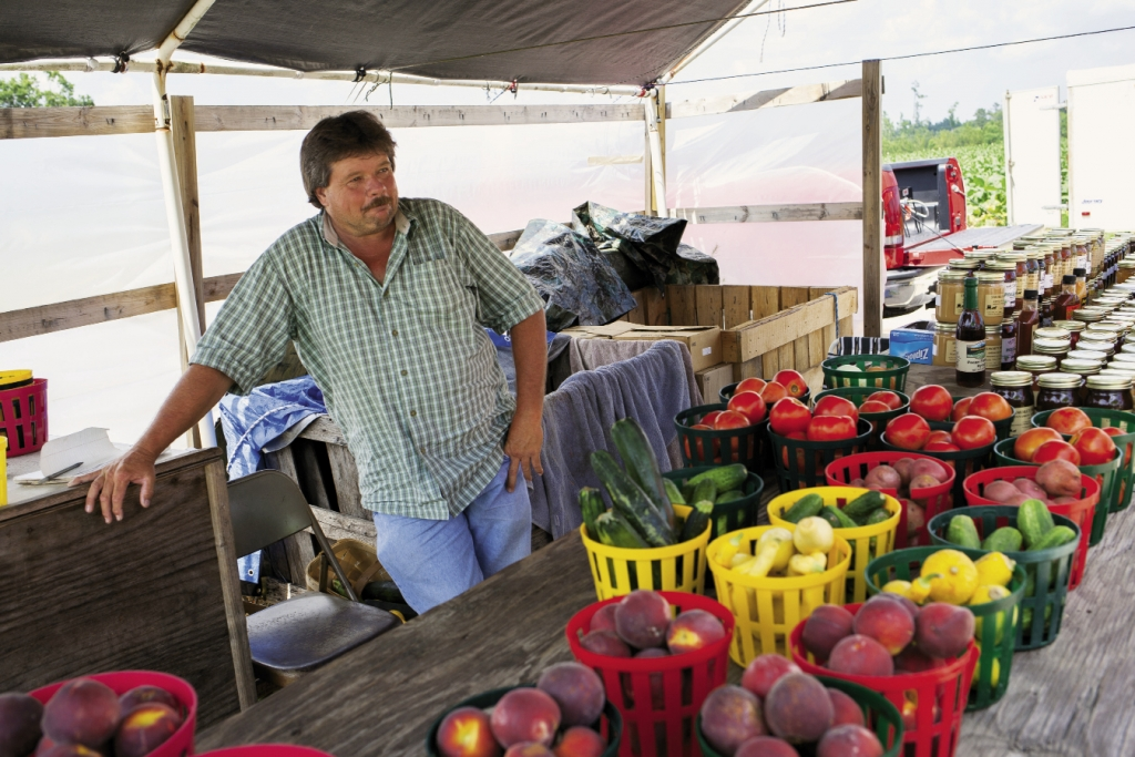 Dean's Produce: Dean Dew says that selling produce at his Highway 501 stand beats any job he's ever had.
