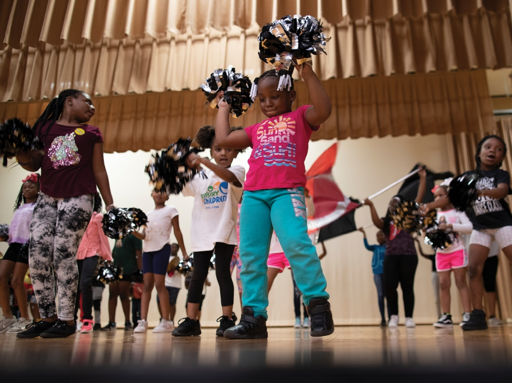 "Prem1er Community Drumline is open to children of all ages, including 5-year-old ZaNyria ""Lucy"" Winns"
