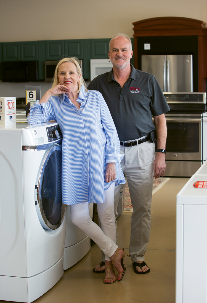 With an emphasis on customer relations, siblings Teressa and Linley Dew are guiding their family's appliance store well into the 21st century.