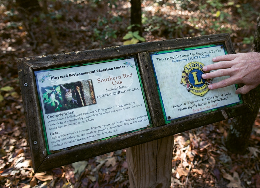 "The Lions Club honored the center with an international award for its ""Braille Trail""—a nature path for the blind."