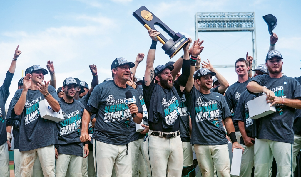 2016 was CCU's year—and no one could be happier than Gilmore of the team's championship, after 21 years of coming close.