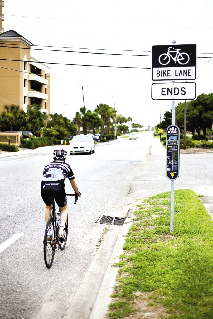Bike lanes and bike paths crisscross the Grand Strand and help in the safety of area riders.