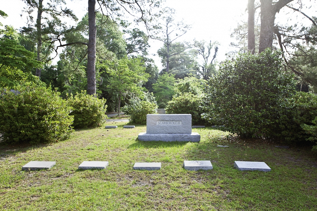 Scarborough Resting Place: Those who remember say that Scarborough loved to sit on the front porch of his home in Conway and call out to neighbors and friends as they passed by.