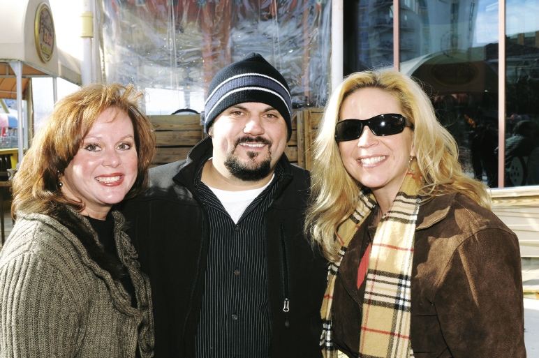 Mary Ellen Cutts with Chris and Kelly Langston
