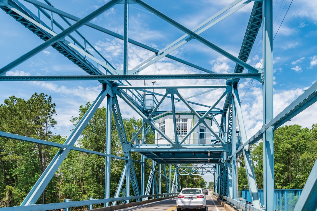 A Hardworking History: The fully functional Socastee swing bridge dates back to 1935.
