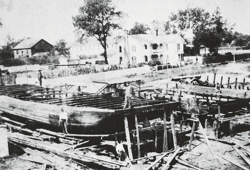 One of two shipyards that were in Conway. This shipyard was on the Waccamaw River at what is now the Kingston Presbyterian Church's lower parking lot on Kingston Street.
