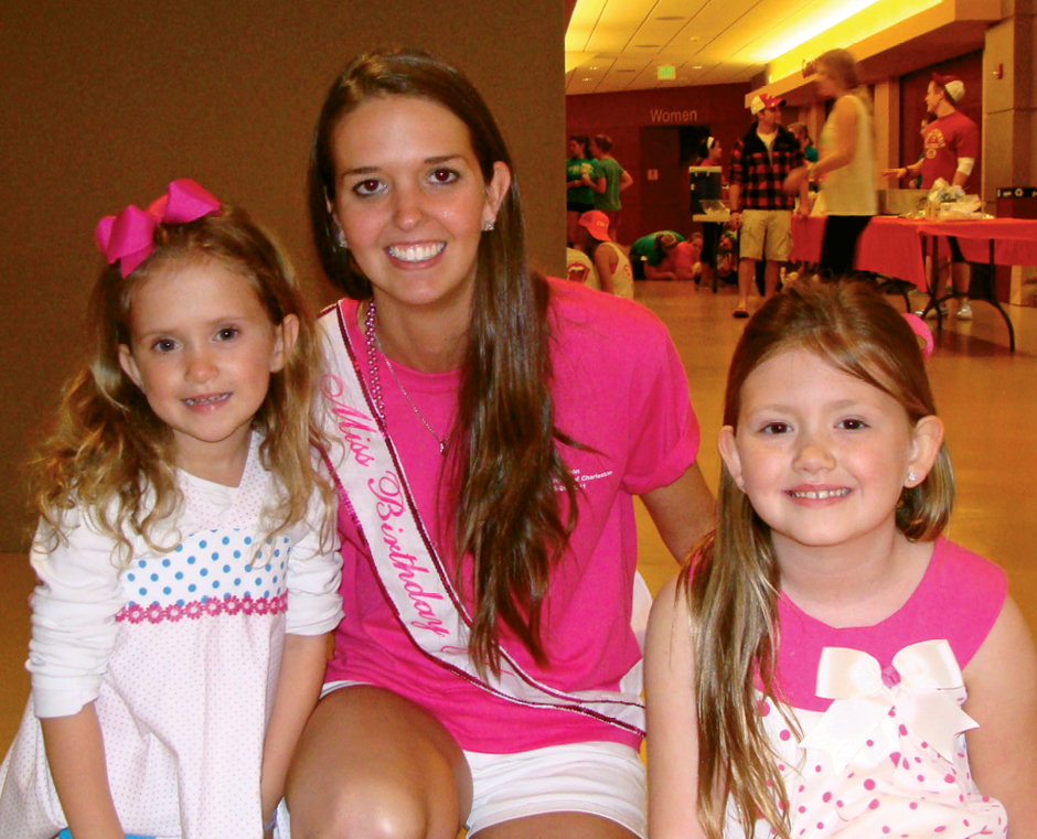 Sam participated in a dance marathon to benefit MUSC Children's Hospital as a student at College of Charleston