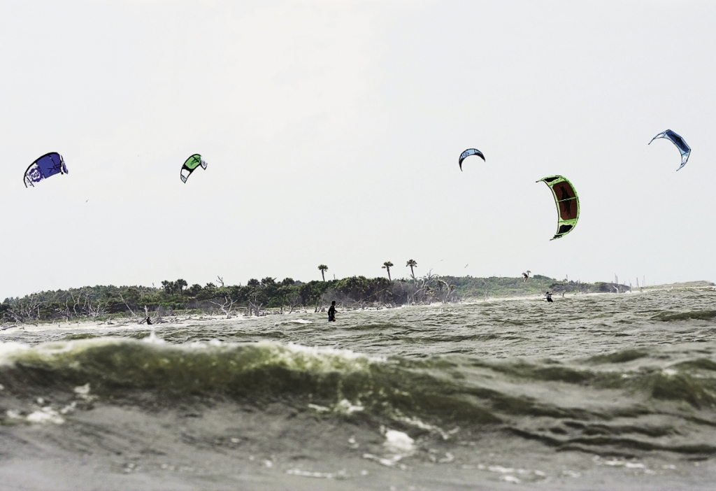 Kiteboarding works best where there's a steady, consistent wind, making our coastal waters ideal.