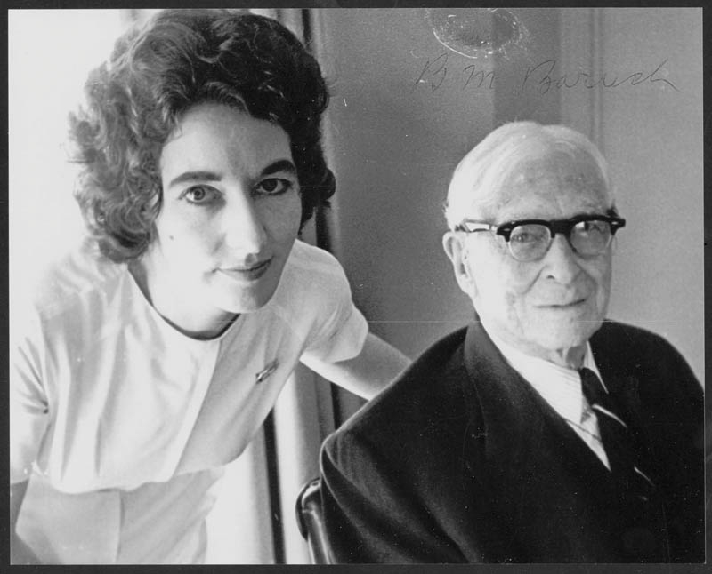 93-year-old Bernard in 1963 with nurse Anne Cullen. Cullen was chosen by Bernard to care for Belle during her last struggle with cancer in 1964