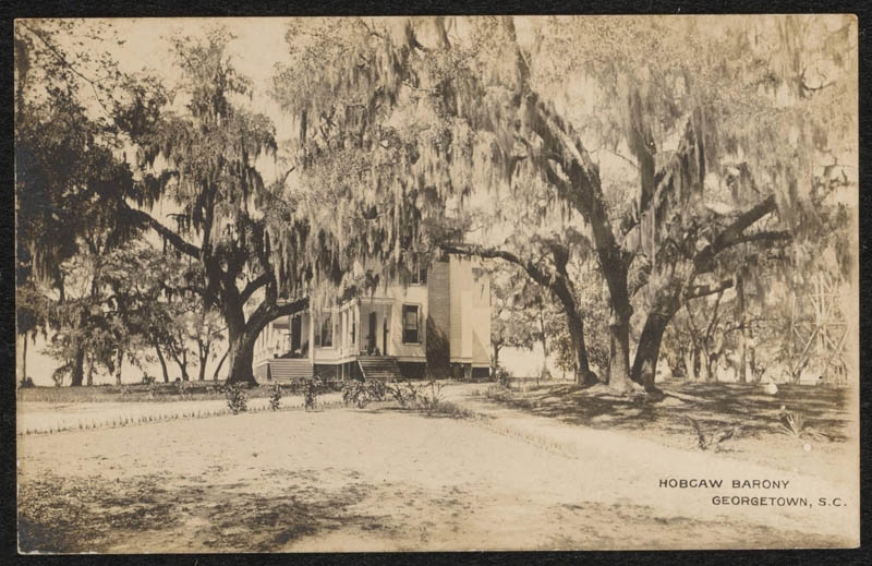 "This circa 1907 postcard features an excellent photographic image of the house, affectionately known as the ""Old Relick."" Note the lack of sun porch on the south side —one was added shortly after the Baruchs purchased Hobcaw."