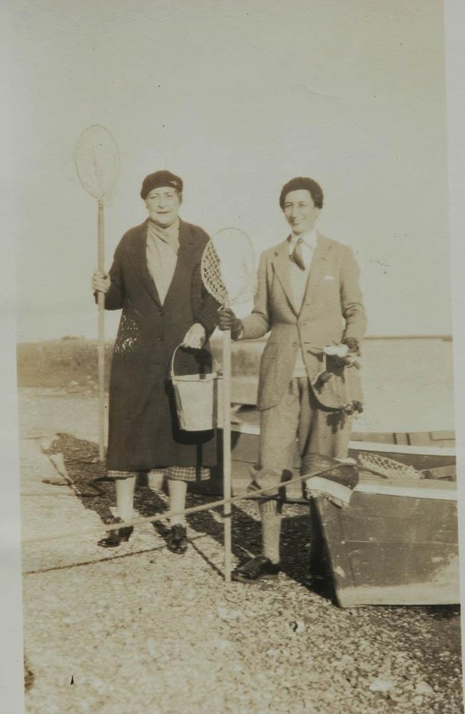 Annie and Belle prepare to go crabbing circa 1937.