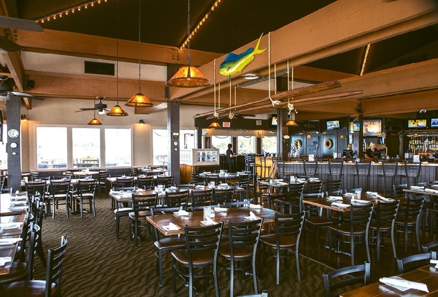 Rustic is what you'll find and laid-back is what you'll feel at the Pier 14 Restaurant.
