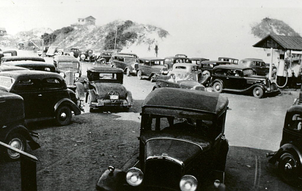 The parking lot of the Lafayette Pavilion reflected the large crowds who visited from all over the region.