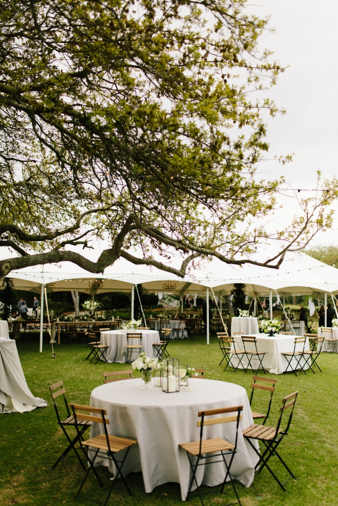 Destination Setting: The weather smiled on the Renfrows' outdoor wedding, which took place on the beautiful grounds of DeBordieu Club.
