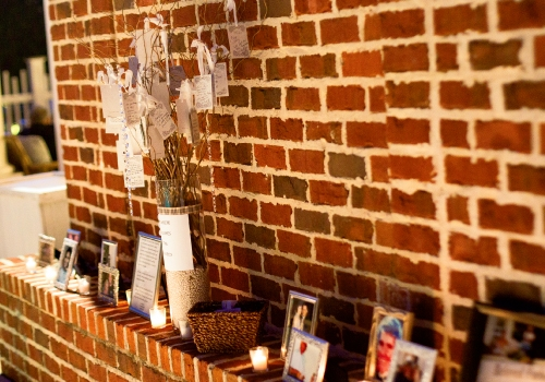 The unique touches made the event special, including photos honoring loved ones who could not be at the ceremony.