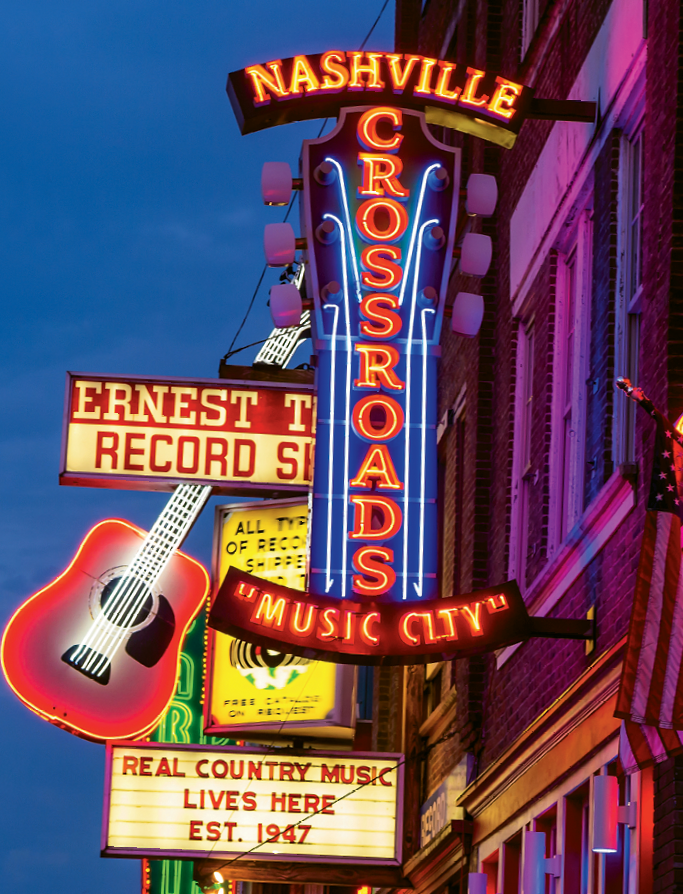 """Lower Broad,"" the nickname for Nashville's Honky Tonk district, still retains some of the oldest, most iconic bars in the city."