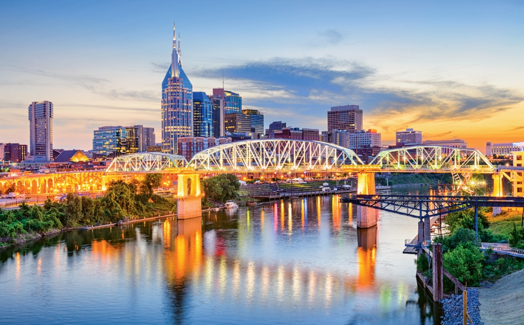 The Cumberland River and Nashville's skyline combine to create a picture-perfect panorama.