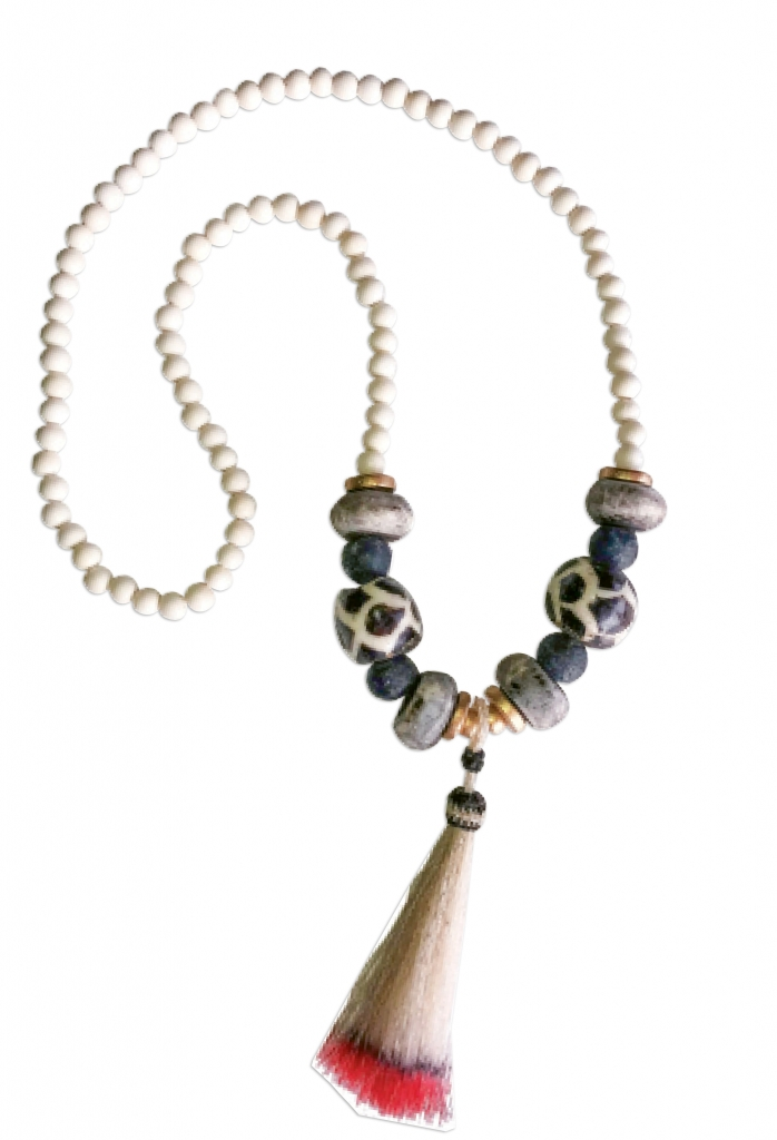 Expect amazing things when wearing this long statement necklace from Chic Happens.