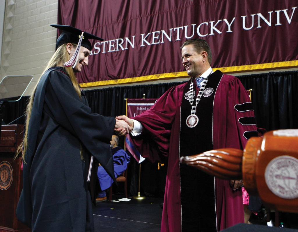 President Benson at the Eastern Kentucky University graduation in May 2019.