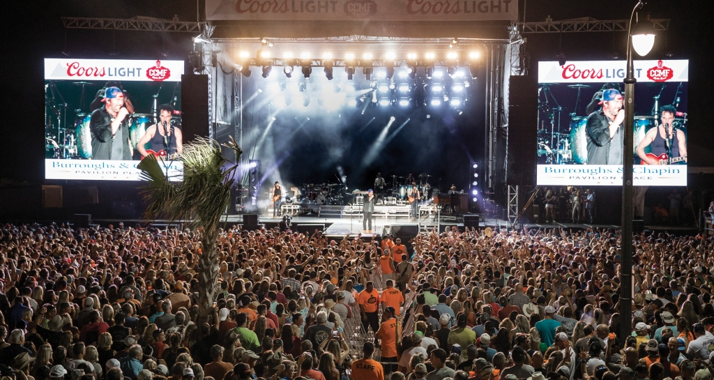 Lee Brice gets the crowd going at 2017's Carolina Country Music Fest.